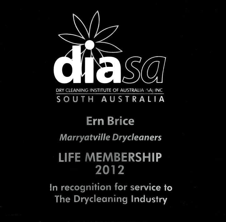 Curtain cleaning Adelaide our story. DIASA Life award Ern Brice
