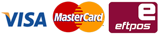 Payment option logos for Adelaide Curtain Cleaners - Visa, Mastercard, Eftpos